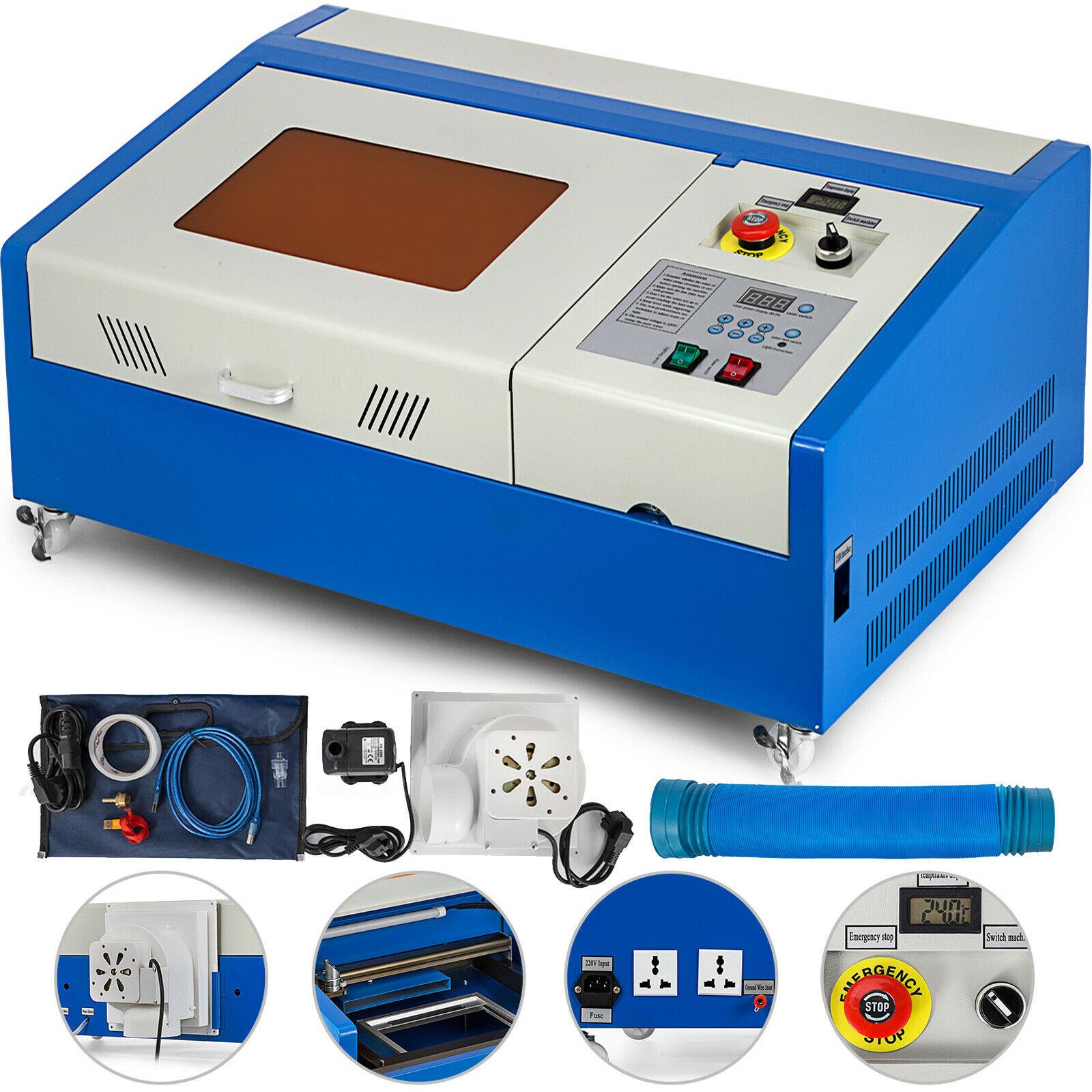 Máquina grabadora láser CO2 40W cortador de grabado máquina de grabado