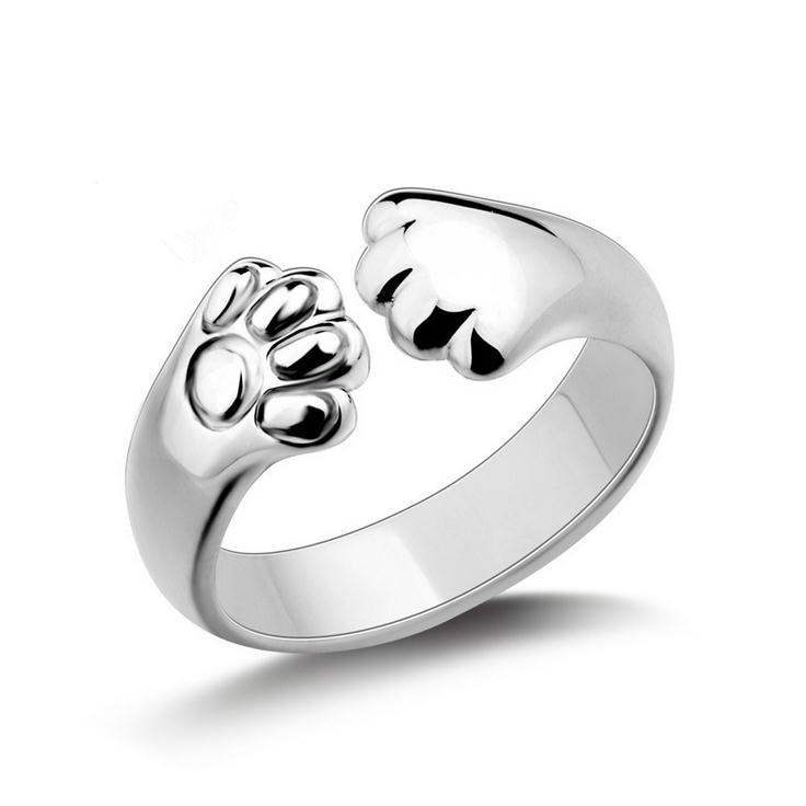 Новое поступление, модные кольца с маленькими кошечками из стерлингового серебра 925 пробы, подарок на день рождения, Женские Ювелирные изде...