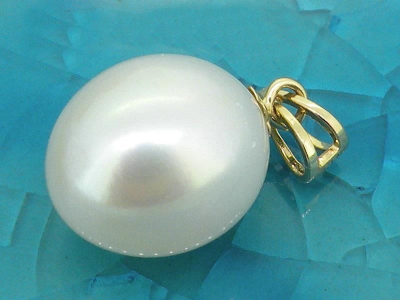 Подлинная 10-12 мм AAA + тонкая капля белого ЮЖНОГО МОРЯ жемчужная подвеска 14KGP желтое золото