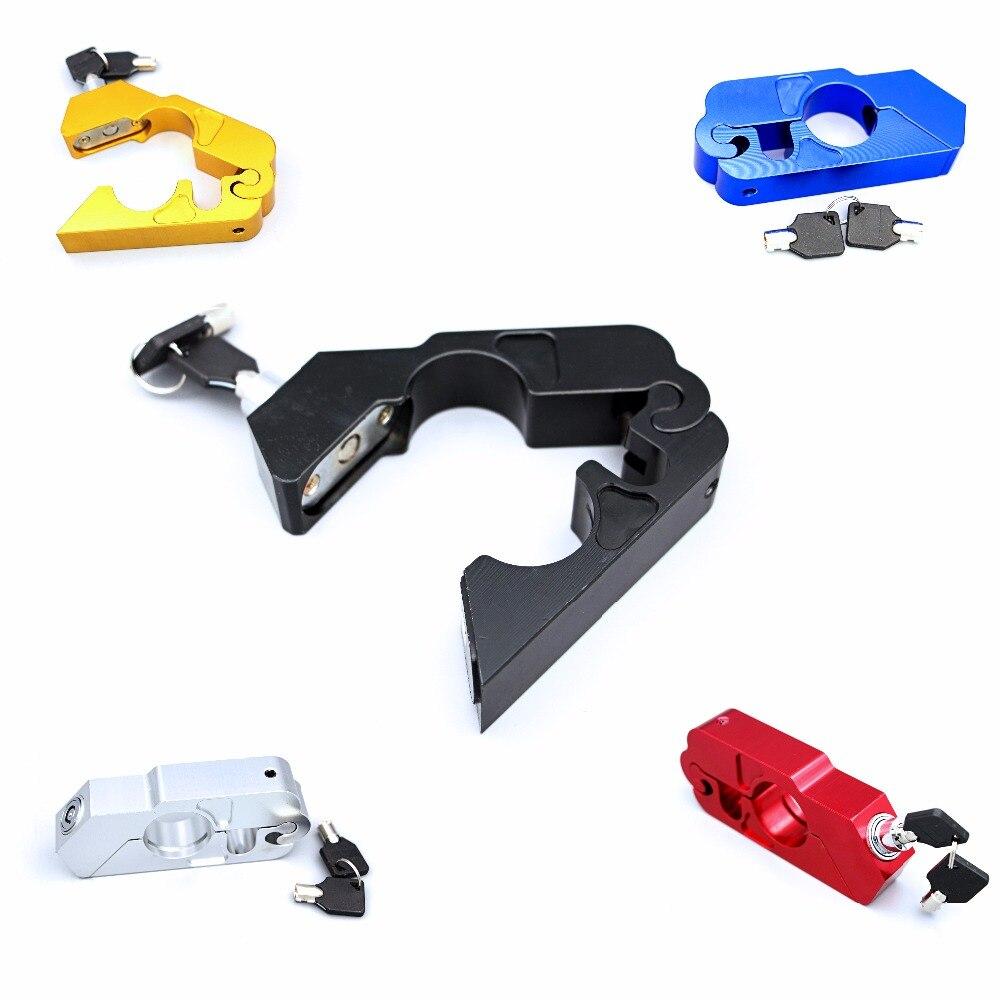قفل أمان للدراجات النارية CNC ، جديد ، مقود الدراجة ، السكوتر ، قفل الفرامل ، حماية قبضة الخانق ، محولات مطاطية ، نوع شعبي