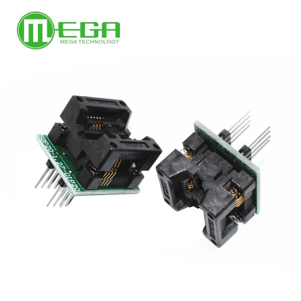 10pcs SOP8 TURN DIP8 WIDE SOP8 to DIP8 Programmer adapter Socket Converter for SOP8 Wide 200mil(Wide) NEW