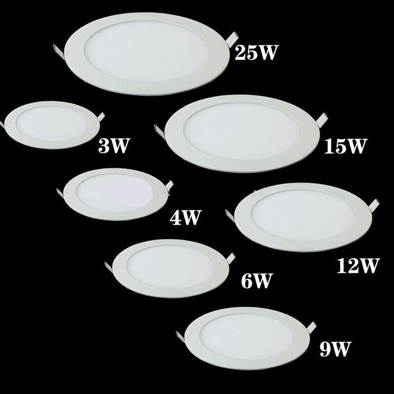 Panel de luz LED regulable para techo, lámpara empotrada ultrafina de 3w,...