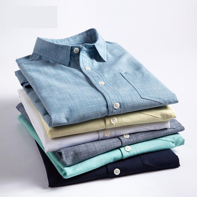 Новое поступление, модные высококачественные летние мужские рубашки из чистого хлопка с коротким рукавом, красивые молодежные модные повс...
