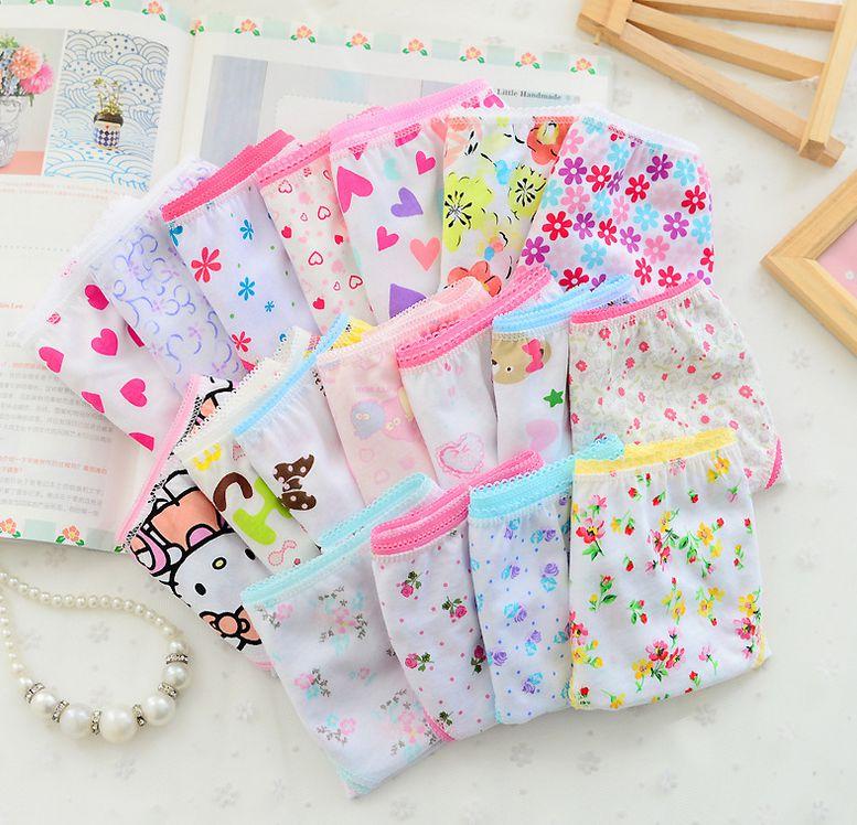 6 unids/lote bragas de algodón bebé Niñas Ropa interior Floral niños calzoncillos cortos niños ropa interior niñas pantalones cortos