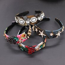 Fashion versatile headband Baroque fashion headband exquisite five-pointed star beauty head geometry court  headband 684