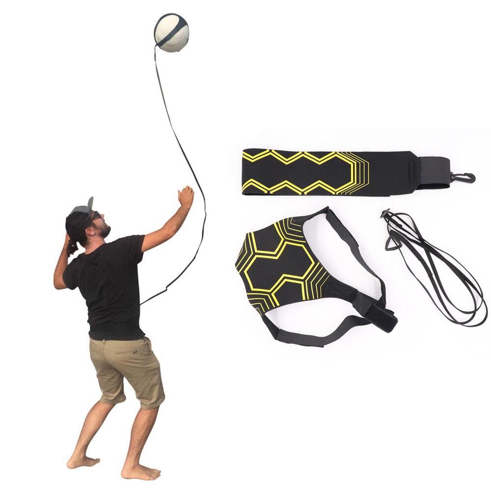 Equipo de entrenamiento de voleibol ayuda gran entrenador solo para la práctica de servicio tosses devoluciones bola ajustable longitud de la cintura del cordón