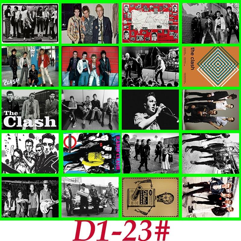 D1-23 # The Clash Serie Clásica sticker 20/Uds PVC Sticker maleta de viaje PencilBox bicicleta teléfono placa deslizante estilo grafiti