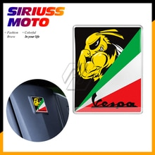3D Motorcycle Decal Italia Sticker Case voor PIAGGIO VESPA GTS GTV LX LXV 125 250 300 Vervangen Logo Sticker