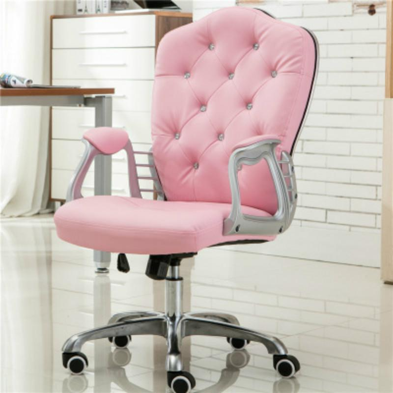 Silla de ordenador de princesa europea en polvo silla de estudio giratoria de elevación de estudiante de oficina en casa SILLA DE jefe asientos en vivo