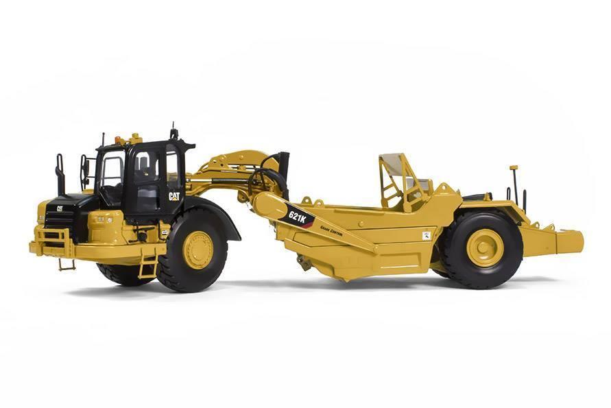 Rascador de Tractor de ruedas raro Tonkin réplicas 150 Caterpillar CAT 621K TR80001 colección de modelos de juguete fundido a presión, decoración