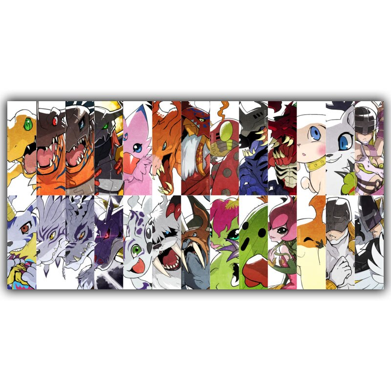Digimons digital póster de monstruo Popular clásico de Anime japonés casa decoración póster de seda imprimir decoración de la pared de 30x60cm 40x80cm
