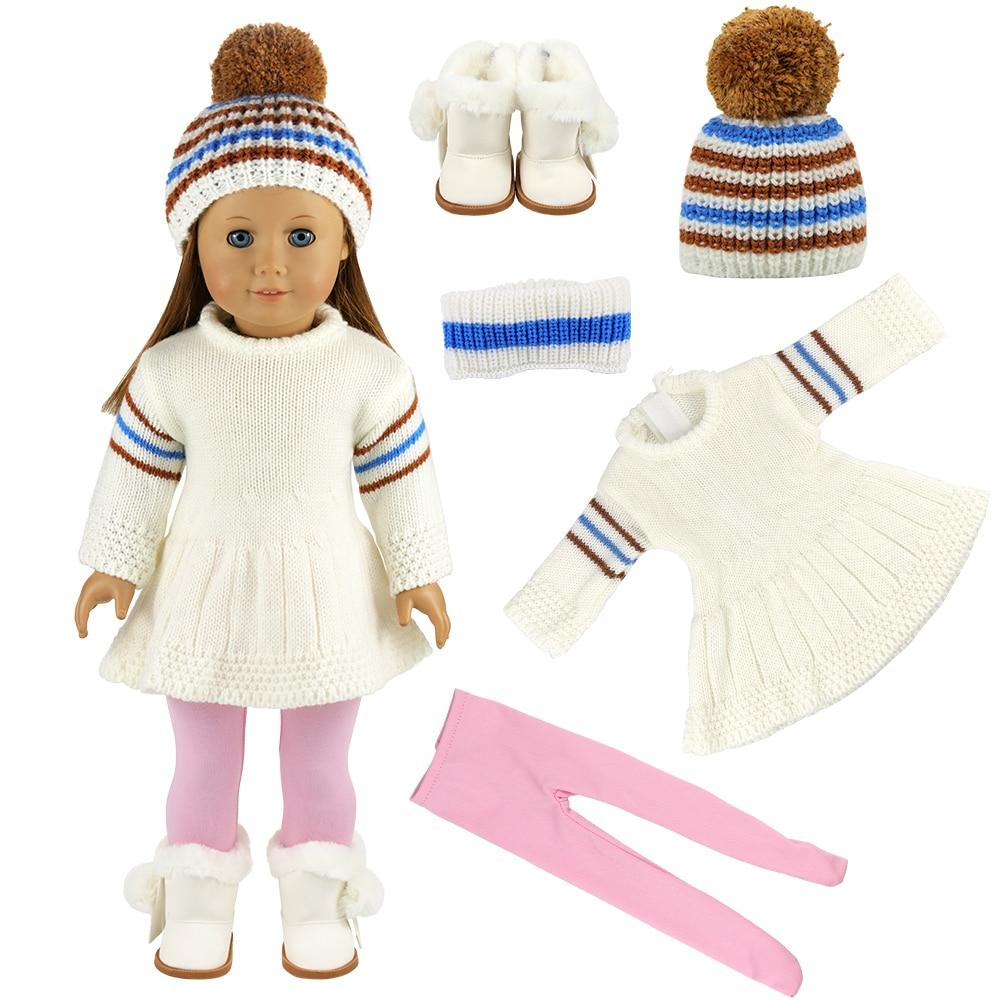 New Fashion Handmade Dolls Accessories 43cm Sweaters Shoes Our Generation Doll Clothes For Ameica Gi