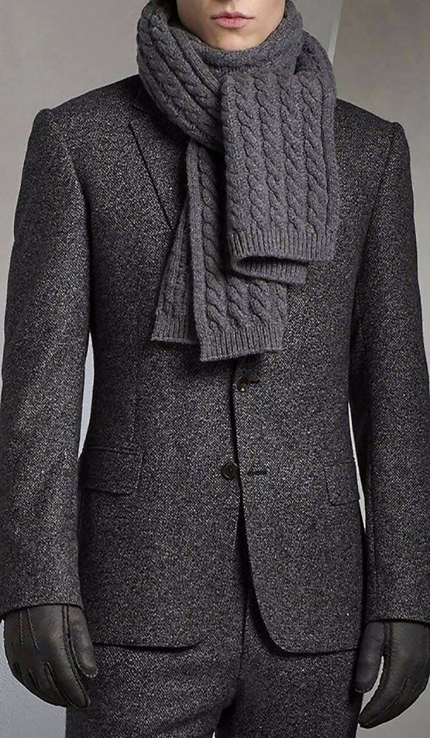 Charcoal Grey Brushed Wool Blend Suits For Winter Tailored Fit Warm Suits For Winter,Custom Made Heavy Wool Blend Suits For Men