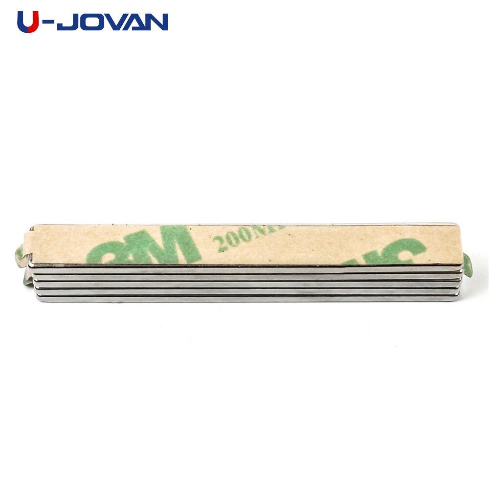 5 unids/lote 50x6x1,5mm N35 Mini Super bloque fuerte imanes con adhesivo 3M imán de neodimio de tierras raras 50*6*6*1,5mm