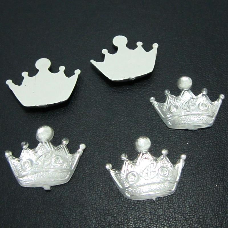 DIY 30pcs Resin shiny crown Flatback  Rhinestone Wedding Accessories DIY Buttons ornaments PC09