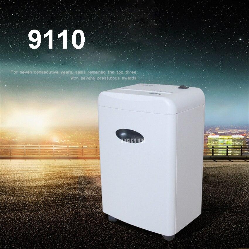 آلة تمزيق الورق الكهربائية الصغيرة ، 9110 فولت/90 واط ، 3 متر/دقيقة ، طاقة عالية ، للاستخدام المكتبي والمنزل ، 220 لتر
