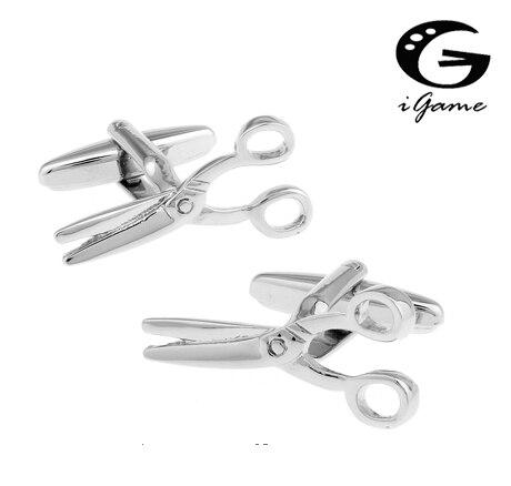 IGame gemelos de moda Color plata de latón Material novedad tijeras diseño envío gratis