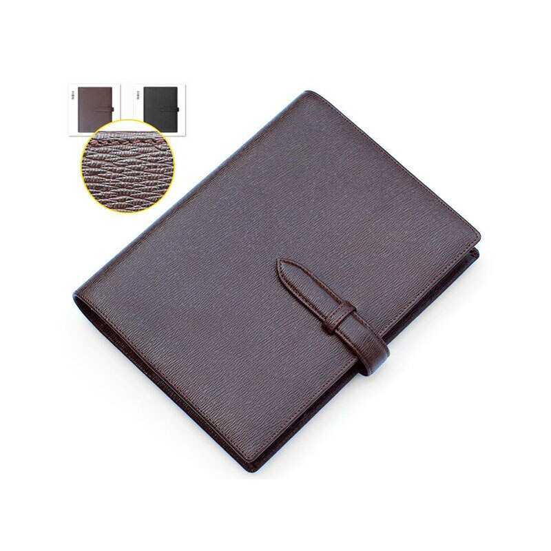 Luxury A5 Loose leaf Planner Binder Genuine Leather Logo Custom DIY Notebook Daily Cowhide Spiral Diary Notepad with Rings