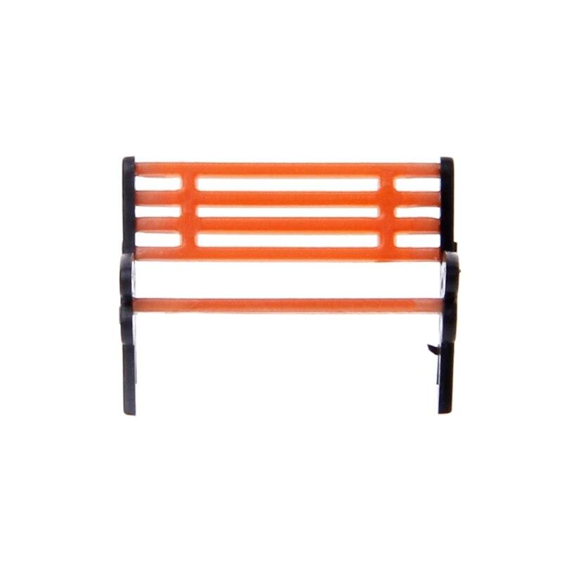 10 Uds. 1100 asientos de calle Silla de Banco modelo tren plataforma diseño Settee HO escala hermosas sillas