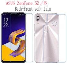 2 pièces dos + avant HD transparent Nano Premium Film souple antidéflagrant pour ASUS ZenFone 5 ZE620KL 5Z ZS620KL (pas de verre trempé)