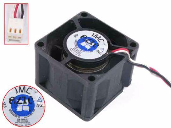 JMC / DaTech 3828-12HB DC 12V 0.3A x 38x38x28mm 3-alambre ventilador cuadrado para servidor