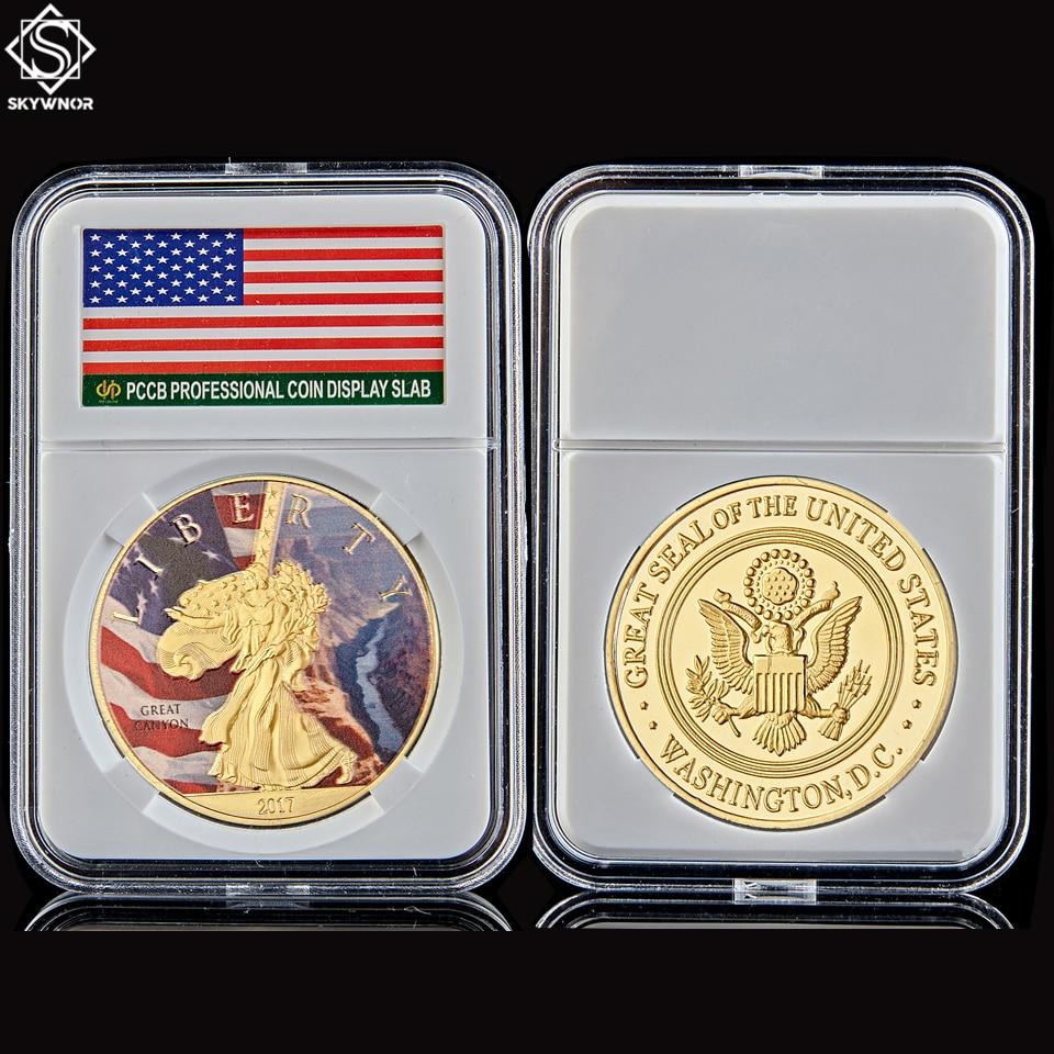2017 сувенирная монета США всемирно известный национальный парк Йеллоустоун в Боге мы доверяем W/ Hard Capsule Protection