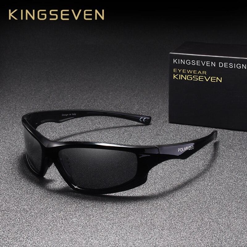 Мужские солнцезащитные очки KINGSEVEN, винтажные поляризационные очки в оправе, UV400
