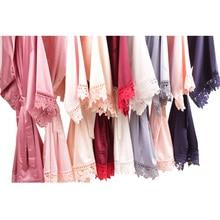 Silky Lace Robe, Monochrome robe,Satin Bridesmaid Robes ,Lace Bride Robe,Bridesmaid Gifts , women