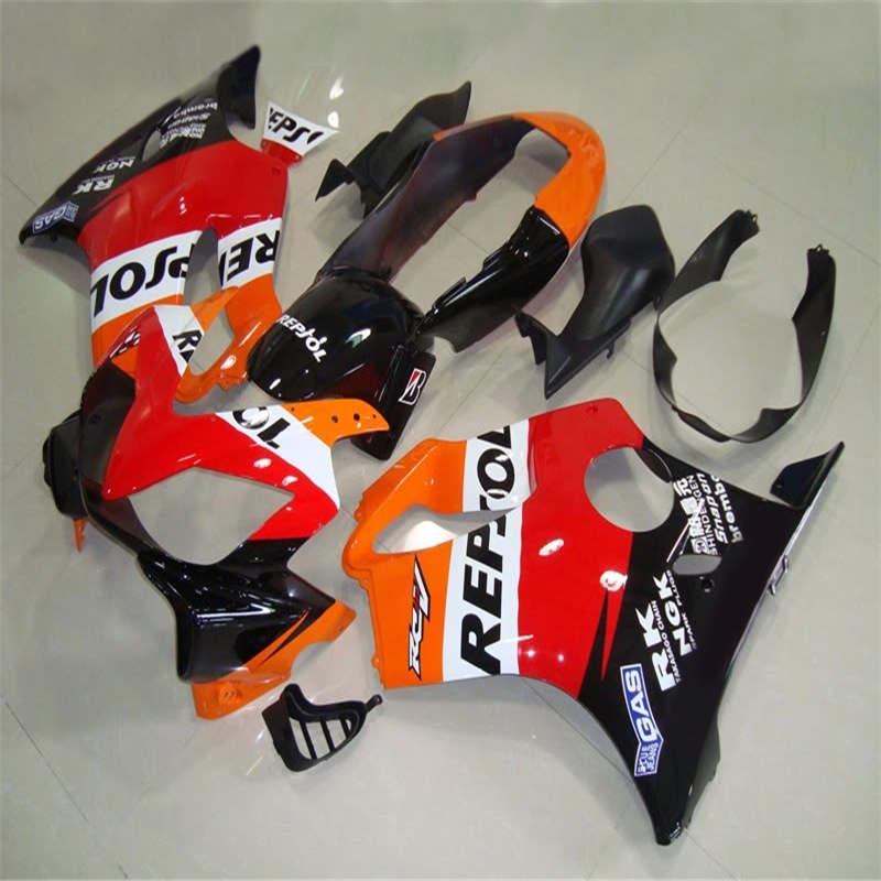 Dor-Alta en 04 05 06 07 CBR600 F4I 2004 2007 ABS orange rojo negro Juego de carenados + regalos inyección Kit de molde de carenado para CBR600F4I