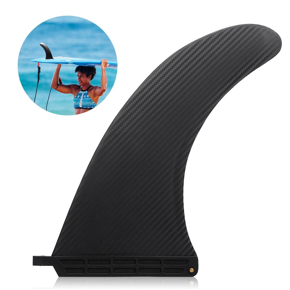 Surf surfe sup singles fin barbatana central náilon longboard prancha de surf paddleboard fin esportes aquáticos mergulho barco aletas 6.5-10in