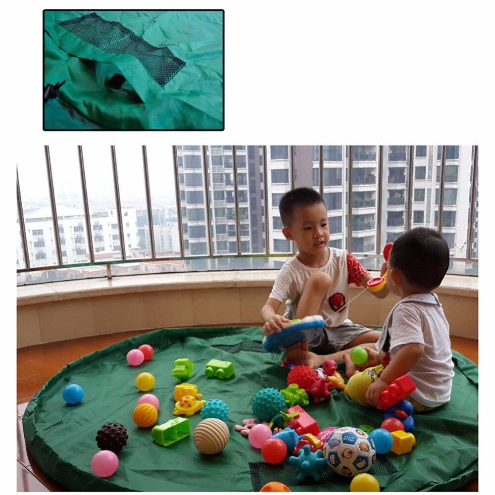 Crianças Brinquedo Saco De Armazenamento portátil Conveniente Outside Piquenique Esteira do Jogo Brinquedos Lego Caixa Organizador Sacos De Armazenamento Prático para o Bebê