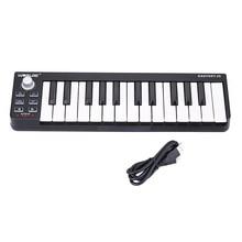 Worlde – Mini-clavier MIDI Portable Easykey.25, 25 touches, contrôleur USB MIDI, synthétiseur, Piano, orgue électronique