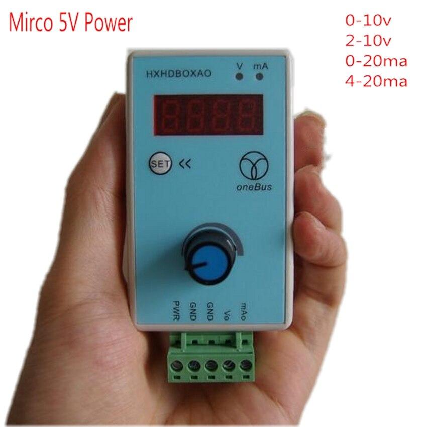 Аналоговый симулятор регулируемого напряжения постоянного тока 5 в 0-10 в 2-10 в 0-20 мА 4-20 мА источник сигнала генератора