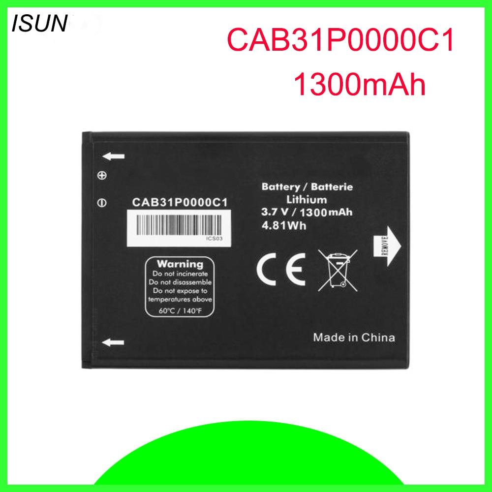 Batería ISUNOO 10 unids/lote 1300mAh para Alcatel one touch Fire 4012 4012A 4012X CAB31P0000C1/CAB31P0000C2 batería