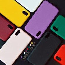Coque souple couleur mate pour iPhone 7 plus 8 6 6s X XS MAX XR 11 Pro Max SE 2 coque arrière en Silicone antichoc de luxe