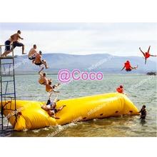Бесплатная доставка до двери, 10x3 м надувная водная капля, большая прыгающая Подушка Blob катапульта воды игрушки, хорошее качество воздушный мешок для продажи