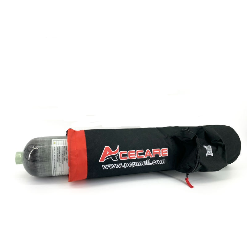 AC8003 3L Fibra De Carbono Cilindro/Ar/Tanque de arma de Paintball tático/PCP/Tanque de Gás/Bottle & saco para a caça rifle de ar airsoft Acecare