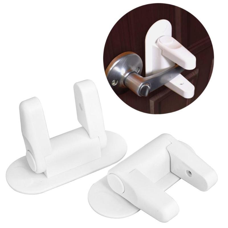 Manija adhesiva de palanca de seguridad para puerta de Cerradura de seguridad para bebés a prueba de niños 3M Compatible con estándar