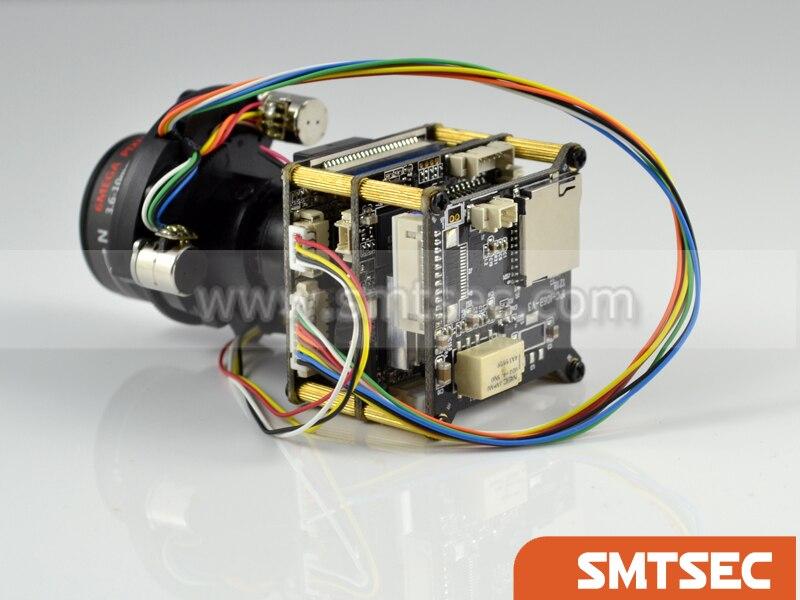 """Placa PCB H.265 5MP Módulo de cámara IP 1/1. 8 """"SONY CMOS IMX178 + 3516A con lente POE motorizada 3,6-10mm WIFI (SIP-E178APMLCW)"""