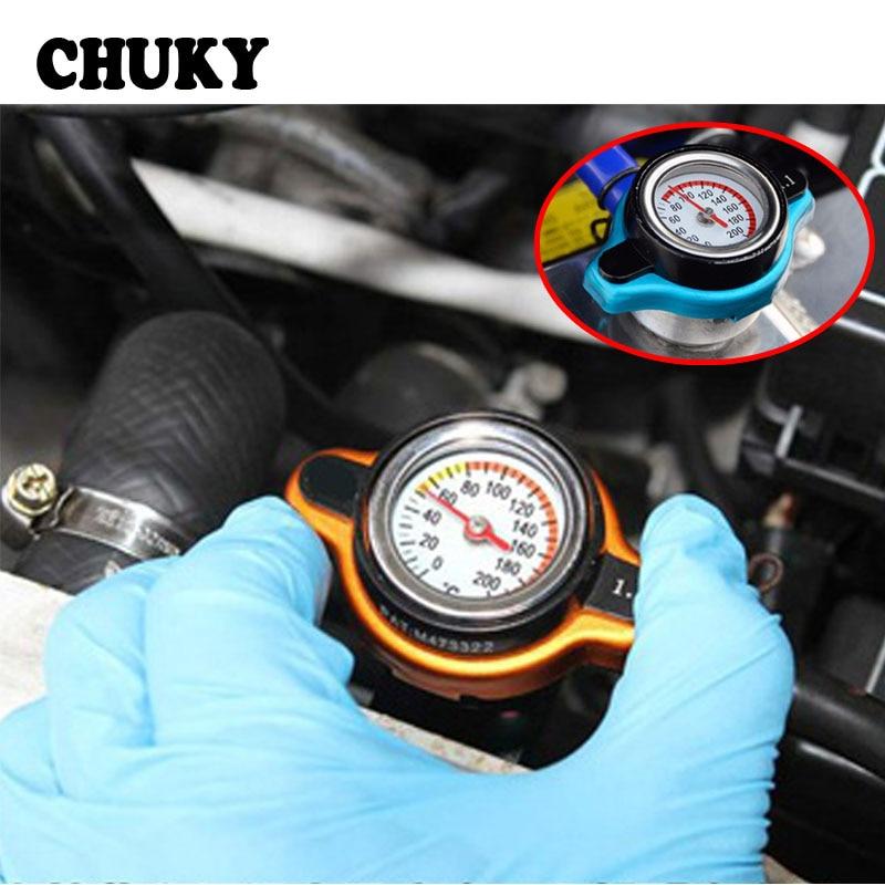 CHUKY Car Water Tank Thermostatic Radiator Cap With Temperature Gauge Meter Accessories For Suzuki Vitara Swift Opel Insignia