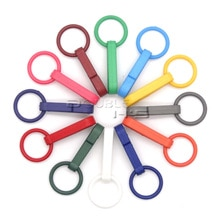 Crochet de gants colorés 500 pièces/lot   Crochet en plastique avec anneau torique utilisé pour les rideaux de douche