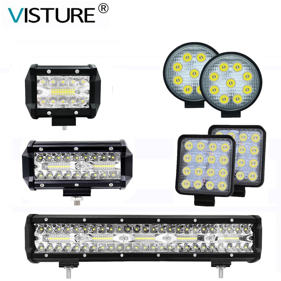 Led work light Bar for off road car trucks driving worklight 12v 24v tractor ledbar 4x4 spotlight offroad led beams