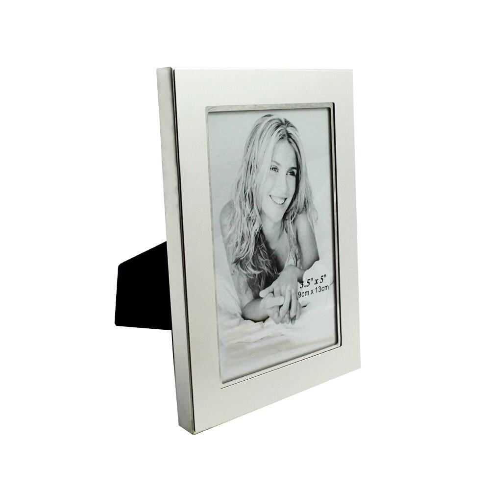 Clásico moderno Metal marco foto escritorio horizontal y vertical marcos de fotos MPF057