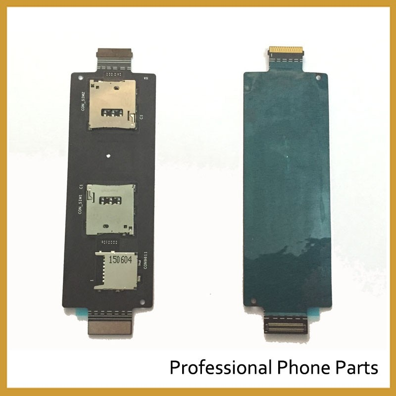 Compatible For ASUS ZenFone 2 5.5 Inch ZE551ML ZE550ML Original SIM Card Reader Holder Connector Slot Flex Cable Replacement