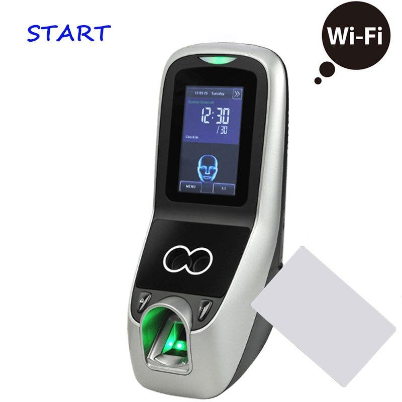 ZK Iface 7 Multibio700 WiFi biométrico cara y huella digital tiempo asistencia 13,56 Mhz MF/IC tarjeta de acceso a la puerta controlador