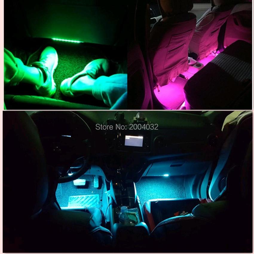 Lámpara LED de ambiente Interior de coche de alta calidad para jeep renegade vw passat b6 fiat audi a4 b7 citroen c5 C3 accesorios KIA Rio