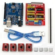 3d Printer Kit For Arduino With UNO R3 Board + CNC Shield V3 + 4PCS A4988 + 4PCS Heatsink 3 D Printer Accessory Part DIY