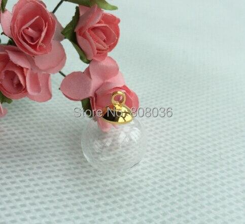New chegou 100 set/lote maçante tampa com anel de ouro cor 8mm 16*4mm claro globo de vidro bolha garrafa cúpula frascos pingentes encantos diy