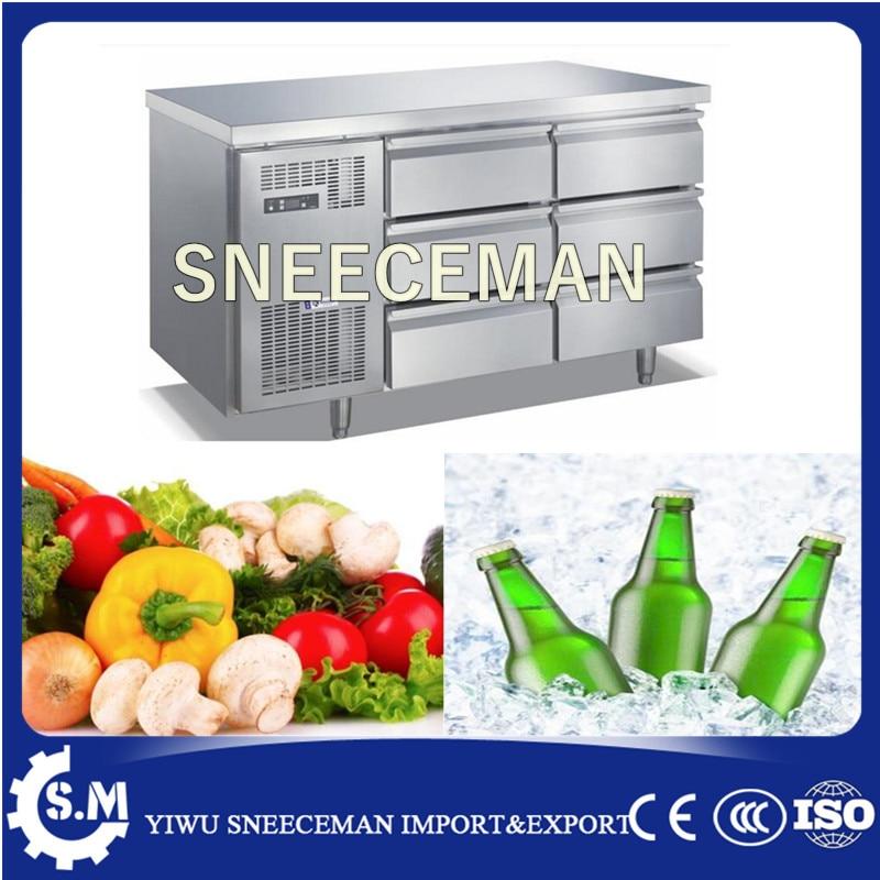 Stainless Steel Worktop Refrigerator drawer fridge workbench freezer undercounter chiller