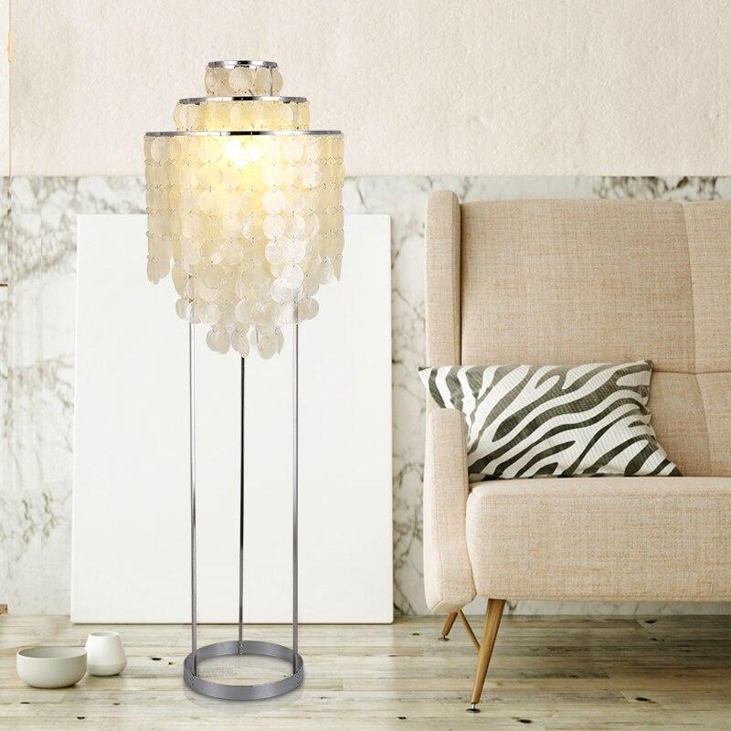 modern Nordic Natural shells floor lamp Bedroom standing Shell lamps